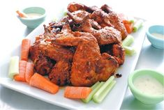 Baked Bourbon Buffalo Wings