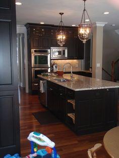 kitchens, lights, espresso cabinet, floors, countertops, light fixtures, granite, stainless steel, kitchen cabinets