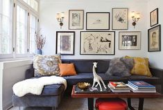 House of Honey {eclectic mid-century vintage modern living room}