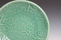 wheel thrown pottery ideas | Pottery ideas and tutorials / Porcelain Ceramic Plate with Hand ...