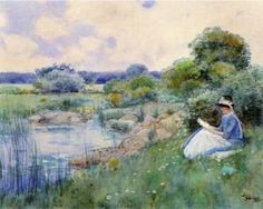Woman Reading, Childe Hassam (1885)
