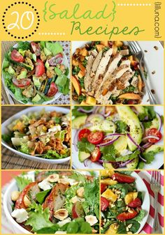 20 Salad Recipes - So many delcious (and HEALTHY) recipes!! { lilluna.com }
