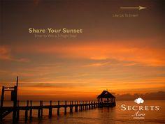 {New Tan Lines Blog} Share Your Secrets Aura Sunset and win a trip to #Cozumel! #SecretsAuraSunsets
