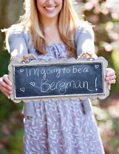 Love this idea for an engagement announcement.