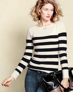 Bold stripes or saturated solids — how to choose? With seven shades, why not choose one for every day of the week? After all, the boatneck is considered a most flattering silhouette on everyone.
