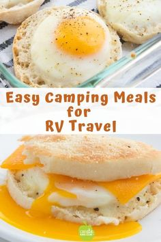 Looking for a fresh and easy Camping Meals For Kids this summer? These simple, no mess Egg and Cheese McMuffins make great RV Meals or an easy camping breakfast. #easycampingrecipe #rvmeals #RVfoodideas #rvtravel #campingrecipe #campingbreakfast #easybreakfastideas #createkidsclub