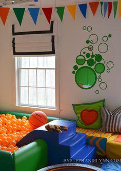 Playroom Window Treatment