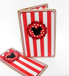 Mickey Mouse Striped Mini Moleskine Journal with Matching Bookmark