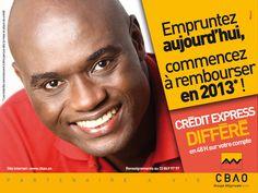 Crédit express différé par CBAO (septembre 2012) agence Optima