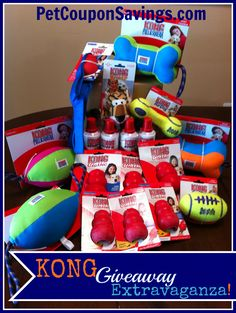 KONG Giveaway Extravaganza: Win lots of KONG dog toys for your pup! #giveaways #win #dogs http://petcouponsavings.com/kong-giveaway-extravaganza-3-winners/