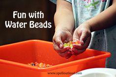 Water beads sensory play activities