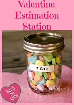 Hands-On Preschool Math:  Estimation Station for Valentine's Day #preschool