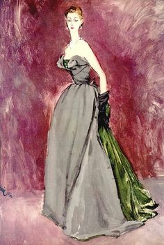 Illustration for Vogue 1951 by Dior