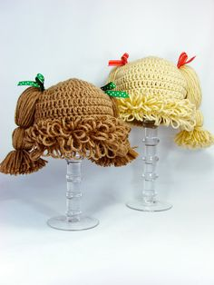 Cabbage Patch Kid Inspired Hat Crochet PATTERN by TheLilliePad