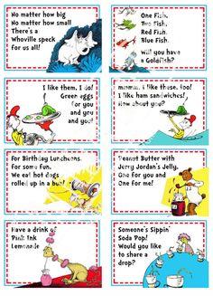 Dr. Seuss Food Labels
