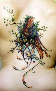 Love the colors  Bird Tattoo