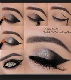Beautiful Gray Eye Makeup
