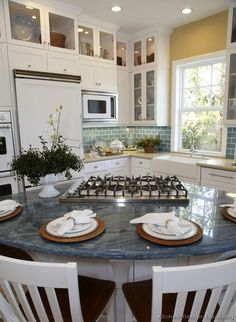 #Kitchen Idea of the Day: Blue granite is certain to spark a conversation in the kitchen.