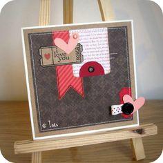 valentin card, card idea, layout, card design, inspir card