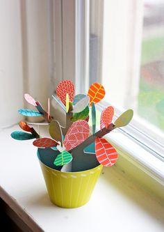+ #DIY paper cactus plant +