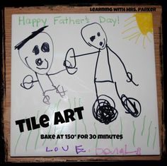Learning With Mrs. Parker: Tile Art for Father's Day
