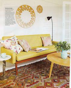 Mustard yellow sofa!