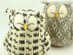 Felted Owls...very cute!