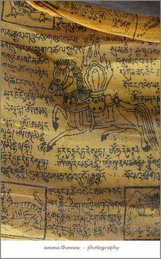 Tibetan prayer flag detail