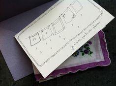 Inspiration: sympathy card + handkerchief. Je n'aime pas te voir pleurer (I don't like to see you cry). By Papillon clic clac - la carte pour sécher tes larmes.