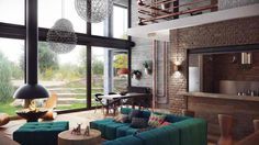my type of home Industrial_Loft_interior_design