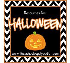 Tons of Halloween Resources at @TheSchoolSupplyAddict!