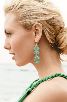 Stella & Dot Capri Chandelier Earring, available in turquoise & coral