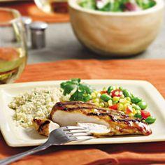 Chipotle-orange glazed chicken
