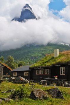 Renndølssetra Summer Farm in Innerdalen Valley, Norway