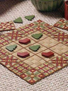 Country Christmas Tic Tac Toe in Plastic Canvas (free pattern)