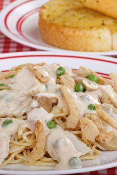 Chicken or Turkey Tetrazzini Casserole Recipe