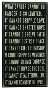 What Cancer Cannot Do.