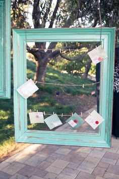 Framed escort cards. Photography by lovelightimages.com, Planning by mgardens.com