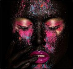 beauty photography, face paintings, color, war paint, makeup art, everyday makeup, painted faces, face art, photographi