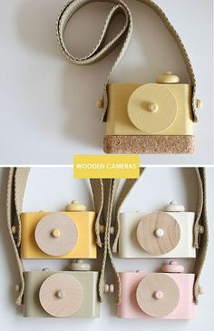toy camera made from wood by Twig Creative