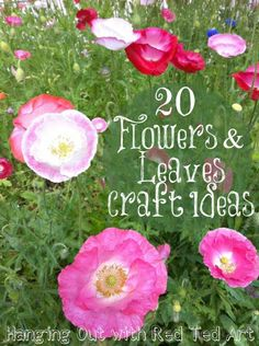 Summer here we come - lovely craft ideas using leaves and flowers!!