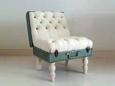 decor, craft, idea, chairs, suitcas chair