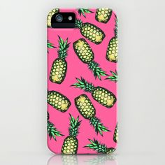pineapples, iphone cases, pattern iphon, patterns, ipod cases, iphon case, pineapple phone case, pineappl pattern, georgiana paraschiv