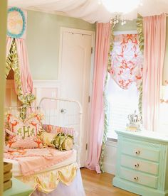 Gorgeous nursery - love the mix of patterns and prints