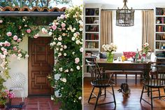 favorit place, idea, dream, climbing roses, front doors, hous, space, cottages & bungalows interiors, wood doors