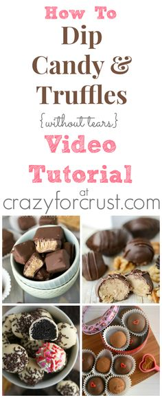 How To Dip Candy and Truffles Video Tutorial at crazyforcrust.com | Learn some dipping tricks so you can make candy without tears!