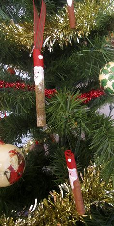 Making Cinnamon Stick Santa's and more from Chips off the Old Block