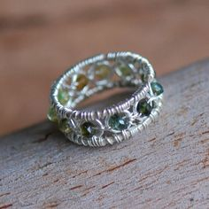 Tourmaline and Jumprings Ring in Sterling Silver | Flickr - Photo Sharing!