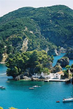 Parga, Greece.  Go to www.YourTravelVideos.com or just click on photo for home videos and much more on sites like this.