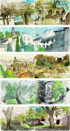 Creativity between Covers - Sketchbook - travel sketches from Provence